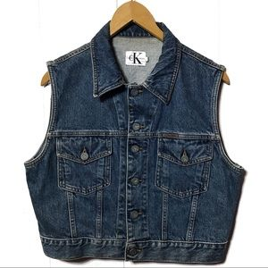 Vintage Calvin Kline Jean Vest